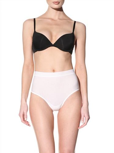Nearly Nude Women's Smoothing Thong (White)