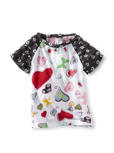 Baby Nay Ruffle Sleeve Knit Tee (Crayon Heart)