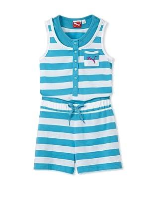 PUMA Girl's 2-6x Striped Romper (Blue)