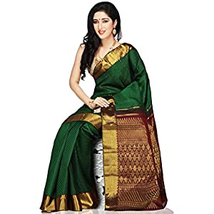 Utsav Fashion Handloom Saree with Blouse - Green