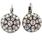 Mariana Earrings - Flower Blossom Swarovski Crystal Earrings, Crystal AB 1029 001 AB