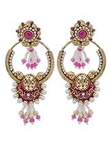 Hyderabadi Abhushan earrings with pinkcolor pearl