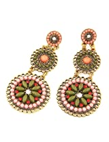 Cinderella Collection by Shining Diva Multicoloured Hanging Earrings for Women 6995er