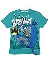 Bio world Boys' Round Neck Marvel comics Tween Cotton Half Sleeve T-Shirt Summer Green [8903346243068] -(9-10 years )