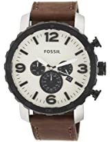 Fossil End-of-Season Nate stopwatch Chronograph Black Dial Men Watch - JR1390