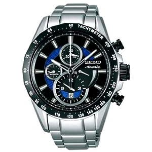 【クリックで詳細表示】[セイコー]SEIKO 腕時計 BRIGHTZ ANANTA ブライツアナンタ メカニカルクロノグラフ 中澤佑二コラボモデル ブラック&ブルーダイヤル 【数量限定】 SAEH003 メンズ
