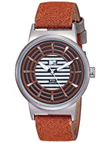 MTV Analog Brown Dial Men's Watch - B7019BR