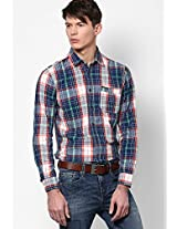 Blue Check Slim Fit Casual Shirt Pepe Jeans