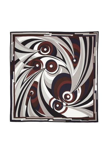 Emilio Pucci Women's Swirl Optic Scarf (Grey)