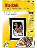 Kodak 8505141 4-Inch X 6-Inch Ultra Premium Photo Paper High Gloss  (100 Sheets)