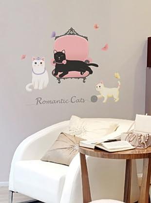 Ambiance Live Vinilo Adhesivo Romantic Cats
