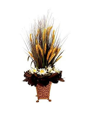 Creative Displays Wheat Grass & Sunflower in Tall Planter