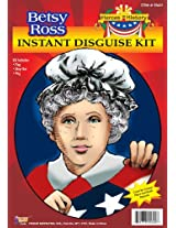 Forum Womens Betsy Ross Costume Kit Wig & Mop Cap Kit