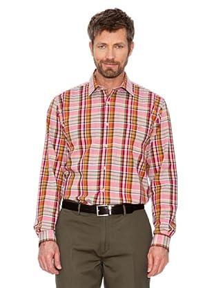 Cortefiel Camisa Cuadros (rojo / rosa / naranja)