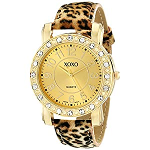 XOXO Women's XO3367 Leopard Patterned Strap Watch