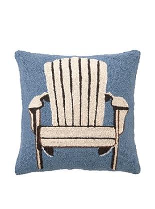 Peking Handicraft White Adirondack Chair Hook Pillow