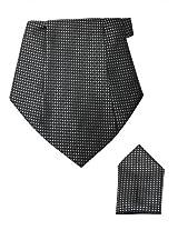 Black Cravat with Pocket Square