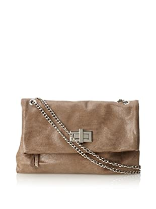 Pietro Alessandro Women's The Marluy Shoulder with Chain Strap (Taupe)