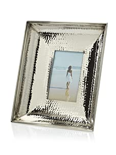 "Diamond Reef 4"" x 6"" Hammered Nickel Picture Frame (Silver)"
