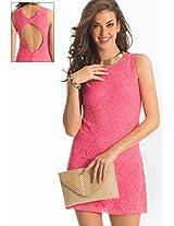 100% Polyester Pink Dress