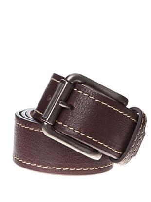 Springfield Cinturón Piel Forro Cuadros (marrón oscuro)