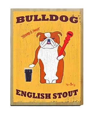 Artehouse Bulldog English Stout Bamboo Wood Sign