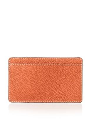 Leone Braconi Men's Panama Credit Card Holder (Orange)