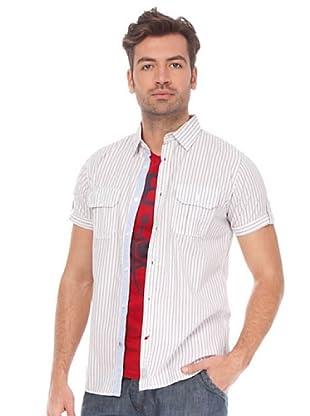 Springfield Camisa (Blanco / Gris)