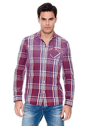 Pepe Jeans London Camisa Luis (Rojo / Marino / Blanco)
