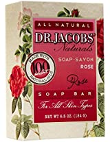 Dr. Jacobs Naturals Castile Bar Soap Rose 6.5 Oz