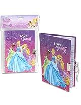 3 Pk, Disney Princess Diary with Lock and Key