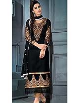 Designer Black Semi Stitched Chudidar Salwar Suit VF-1185