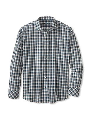 Zachary Prell Men's Darren Checked Long Sleeve Shirt (Darren Blue Combo)
