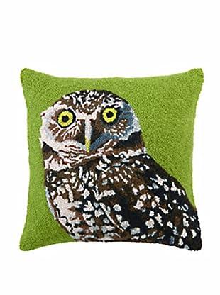 Owl Hook, Green 18x18 Pillow