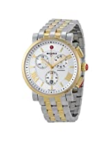 Michele Sport Sail Large Chronograph White Dial Two-tone Ladies Watch -MWW01K000103