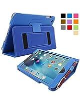 Snugg™ iPad Mini 4 Case - Smart Cover with Flip Stand & Lifetime Guarantee (Electric Blue) for Apple iPad Mini 4 (2015)
