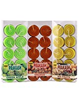 PRAKASH Paraffin Wax Combo of Fruit Scented Tealight Candle Set (3.5 cm x 3.5 cm x 2 cm, Pack of 3)
