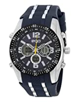 Maxima Ego Analog-Digital Blue Dial Unisex Watch - E-33111PPAN