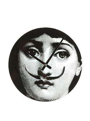 Mid Century Modern Mid Century Girl Moustache Clock
