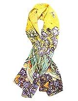 Simplicity Colorful Soft Silk Scarf/Shawl with Van Gogh's