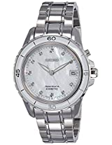 Seiko Sportura Analog Mother of Pearl Dial Women's Watch - SKA881P1