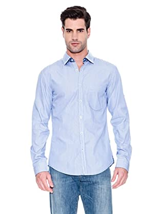 Hugo Boss Camisa Natal (Azul)