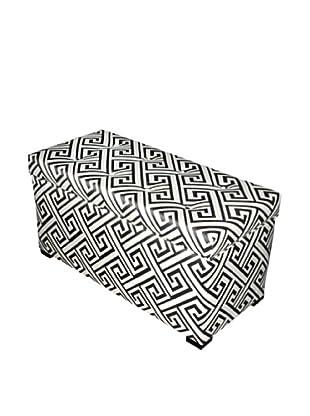 Sole Designs Angela Button-Tufted Storage Trunk, Domino