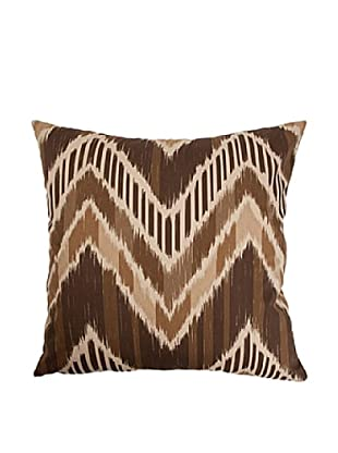 The Pillow Collection Aacharya Zigzag Pillow, Walnut