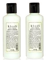 Khadi Herbal Greentea and Aloevera Hair Conditioner, 210ml (Pack of 2)