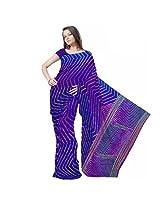Ethnic Designer Lehariya Moss Crepe Purple Saree Jaipuri Crepe Saree Sku Dli3Srj186