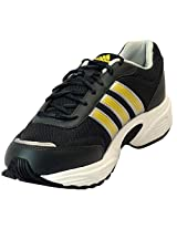 Adidas Men's Alcor Black and Yellow Running Shoes - UK 9