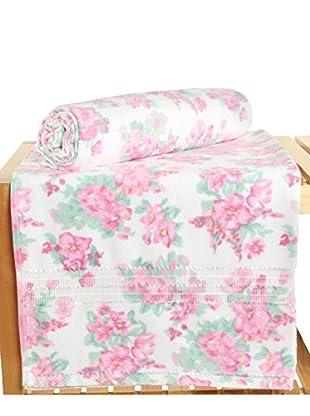 Maisonette Firuze 2-Piece Bath Towel Set, Pink