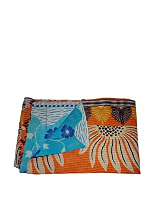 Vintage Karishma Kantha Throw, Multi, 60