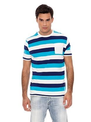 Springfield Camiseta Raya Tricolor (Azul / Blanco)